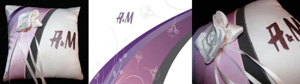 ringenkussen met logo geborduurd