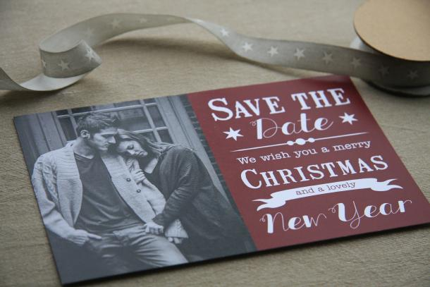save-the-date kerstkaarten