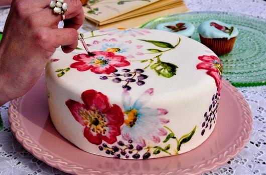 beschilderde taart