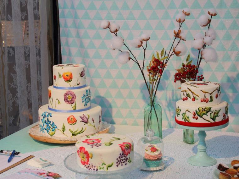 handbeschilderde taarten