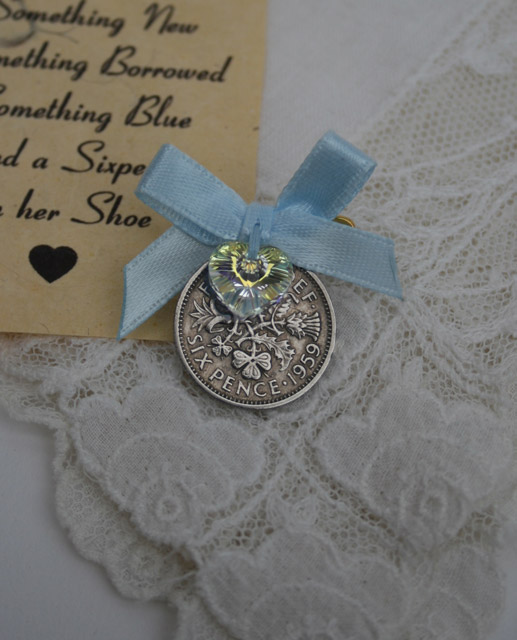 Pin your sixpence – blauw