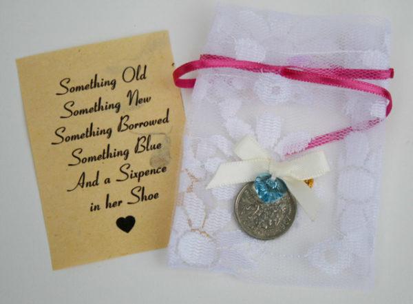 Pin your Sixpence - speldje voor de bruid met something blue