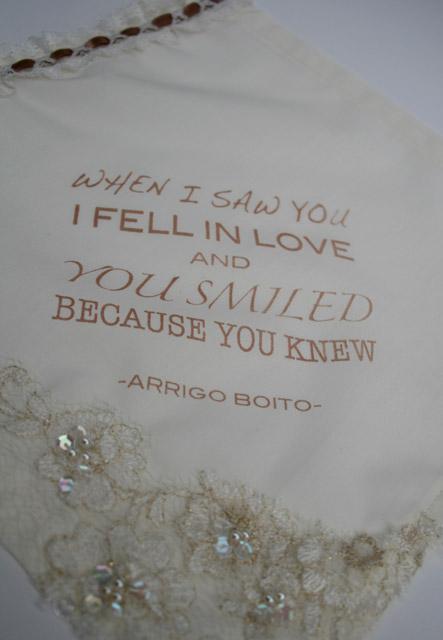 unieke zakdoek voor de bruid