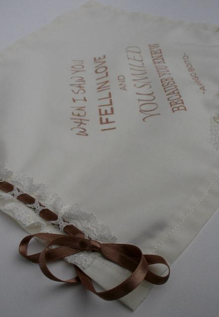 uniek zakdoekje voor de bruid