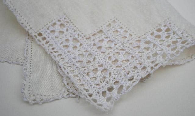 vintage zakdoek van kant bruid bruiloft