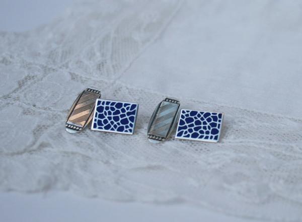 zilveren manchetknopen voor de bruidegom