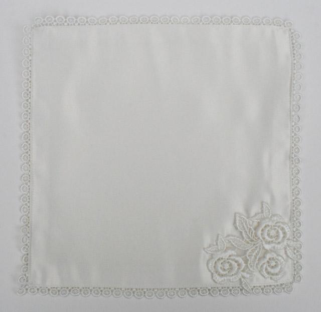 Bruidszakdoek offwhite Silk and Flowers