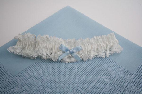 kousenband met something blue