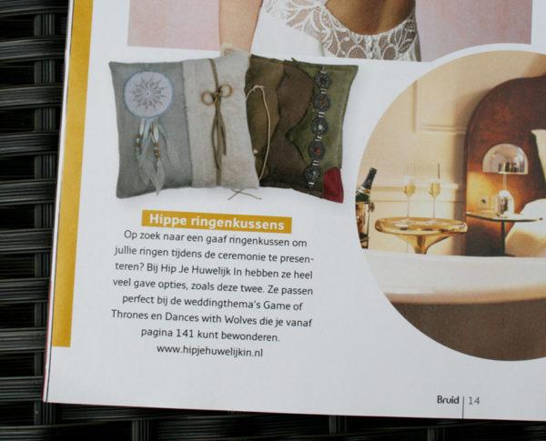 ringkussen dreamcatcher bruid en bruidegom magazine uniek bijzonder