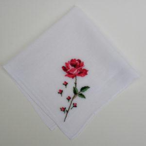 vintage zakdoek bruid bruiloft roos