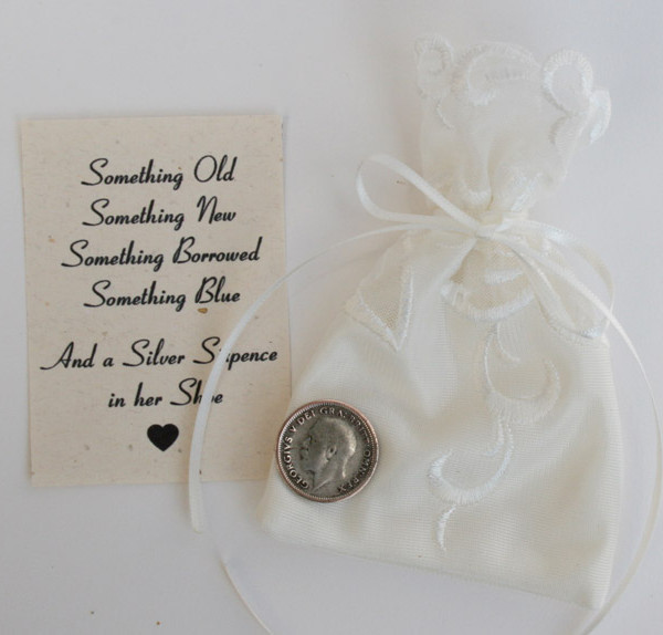 zilveren sixpence king george V 1926 cadeau bruid