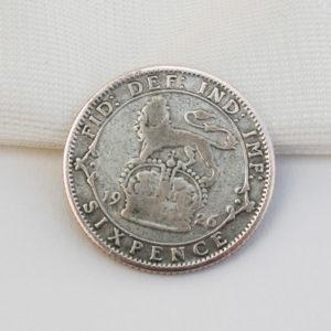 silver sixpence king george V 1926 cadeau bruid