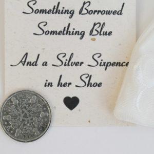 silver sixpence king george 1934 bruiloft shoe