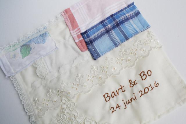 zakdoekje bruid persoonlijk cadeau ouders