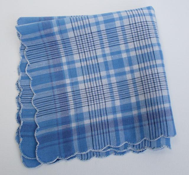 Vintage zakdoek Something Blue