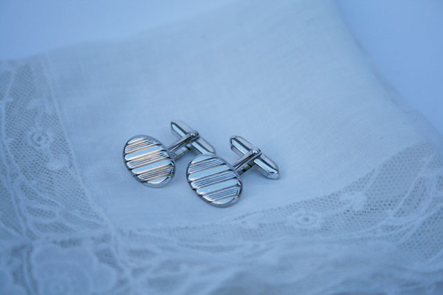 Vintage zilveren manchetknopen