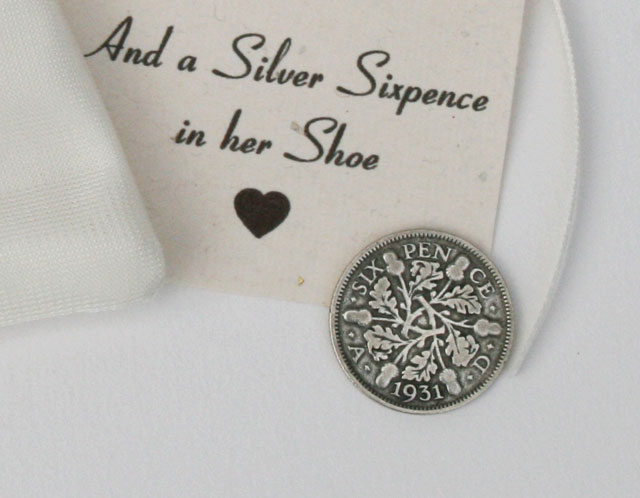 Silver sixpence 1931