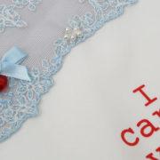 zakdoek bruiloft something blue