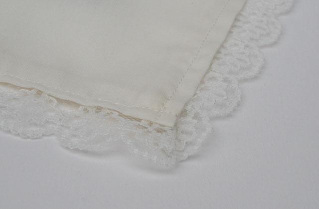 Gezeefdrukte zakdoek voor de bruid