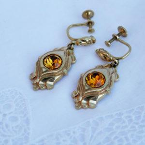 vintage oorbellen voor de vintage bruid