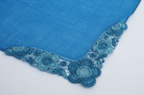 blauw zakdoekje voor de bruid, bruidszakdoekje something blue
