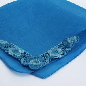 blauw zakdoekje, something blue voor de bruid
