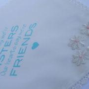 Bruidszakdoekje, cadeautje voor zus die gaat trouwen