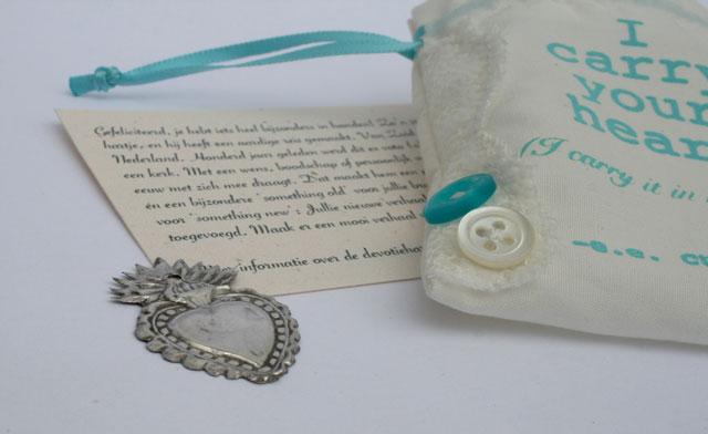 Something old bruiloft: ex voto hartjes van zilver
