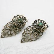 vintage oorbellen met turkoois, bijzondere accessoires voor de vintage bruid, jaren 40-50