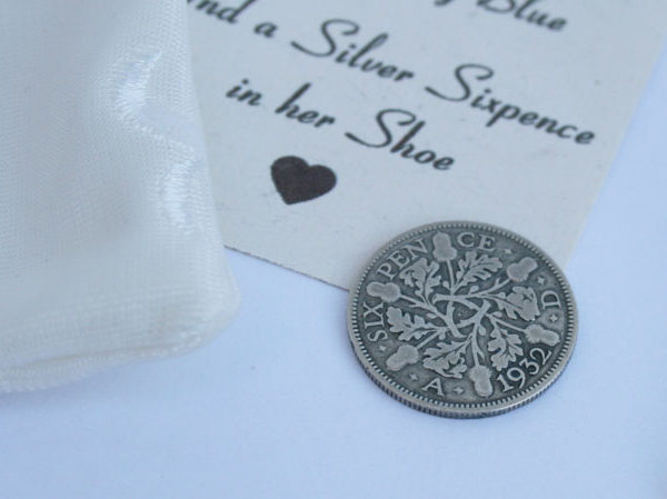silver sixpence king george, and a sixpence in her shoe, zilveren sixpence 1932