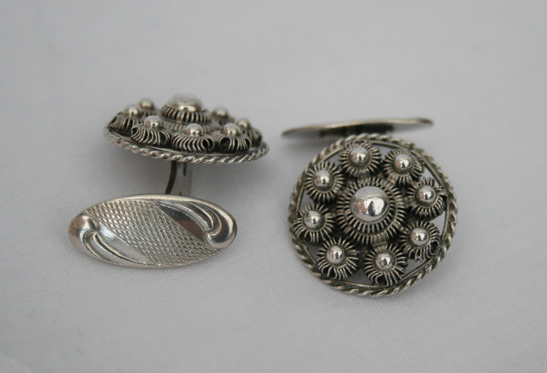 Zeeuwse knop manchetknopen – zilver