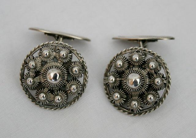 Vintage Zeeuwse knop manchetknopen