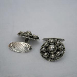 zeeuwse knop manchetknopen vintage en zilver