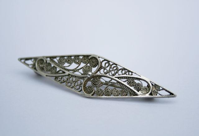 Filigrain broche van 835 zilver