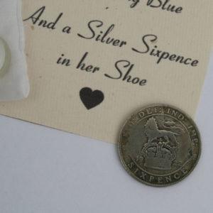 sixpence voor de bruid, lucky sixpence in her shoe