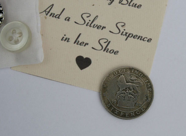 sixpence voor de bruid, lucky sixpence in her shoe