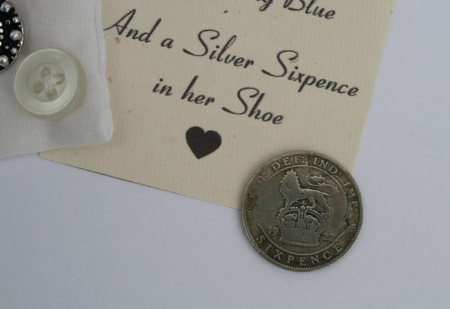 Silver sixpence voor de bruid – King George V 1922