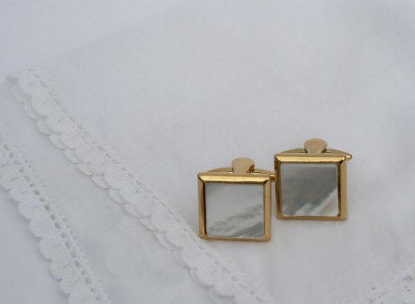 Stratton manchetknopen parelmoer - jaren 70