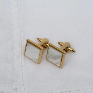 Stratton manchetknopen parelmoer, voor de stijlvolle bruidegom