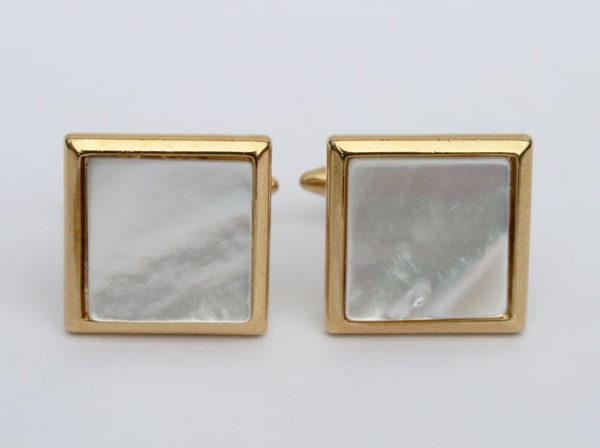 Stratton manchetknopen parelmoer - vintage jaren 70 - mother of pearl