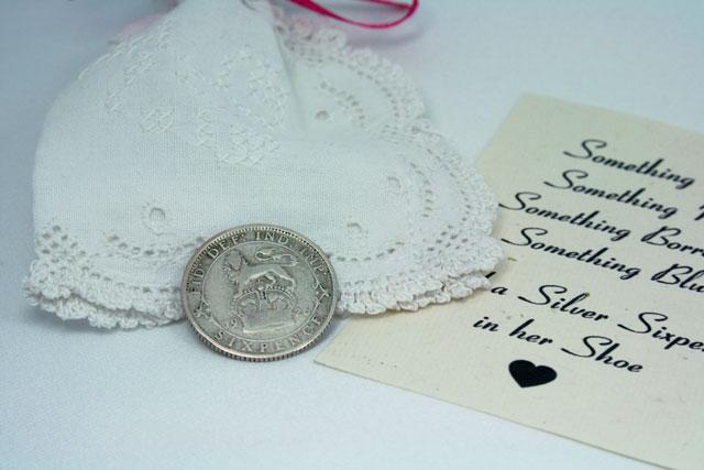 Silver sixpence 1926 – zilveren sixpence voor de bruid