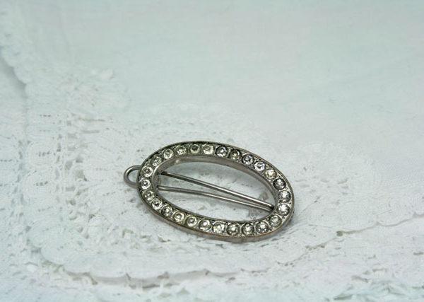 vintage haarspeld ovaal, vintage accessoire voor de bruid