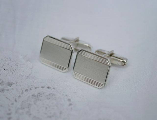 Zilveren manchetknopen graveerbaar met initialen of logo