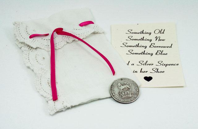 silver sixpence uit 1926 – cadeautje voor de bruid