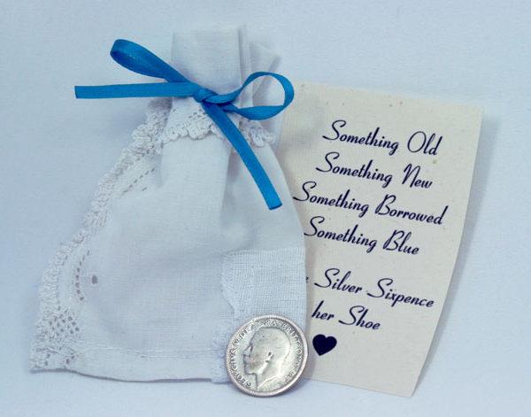 zilveren sixpence 1926, a sixpence in your shoe, engelse traditie voor de bruid