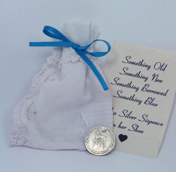 zilveren sixpence 1926, silver sixpence, bruid, geluksbrenger
