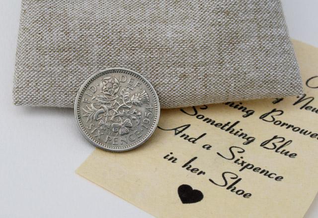 Sixpence in her shoe - cadeautje voor de bruid