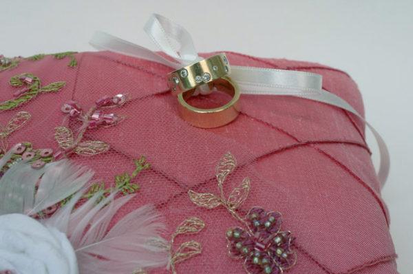 ringkussen roze