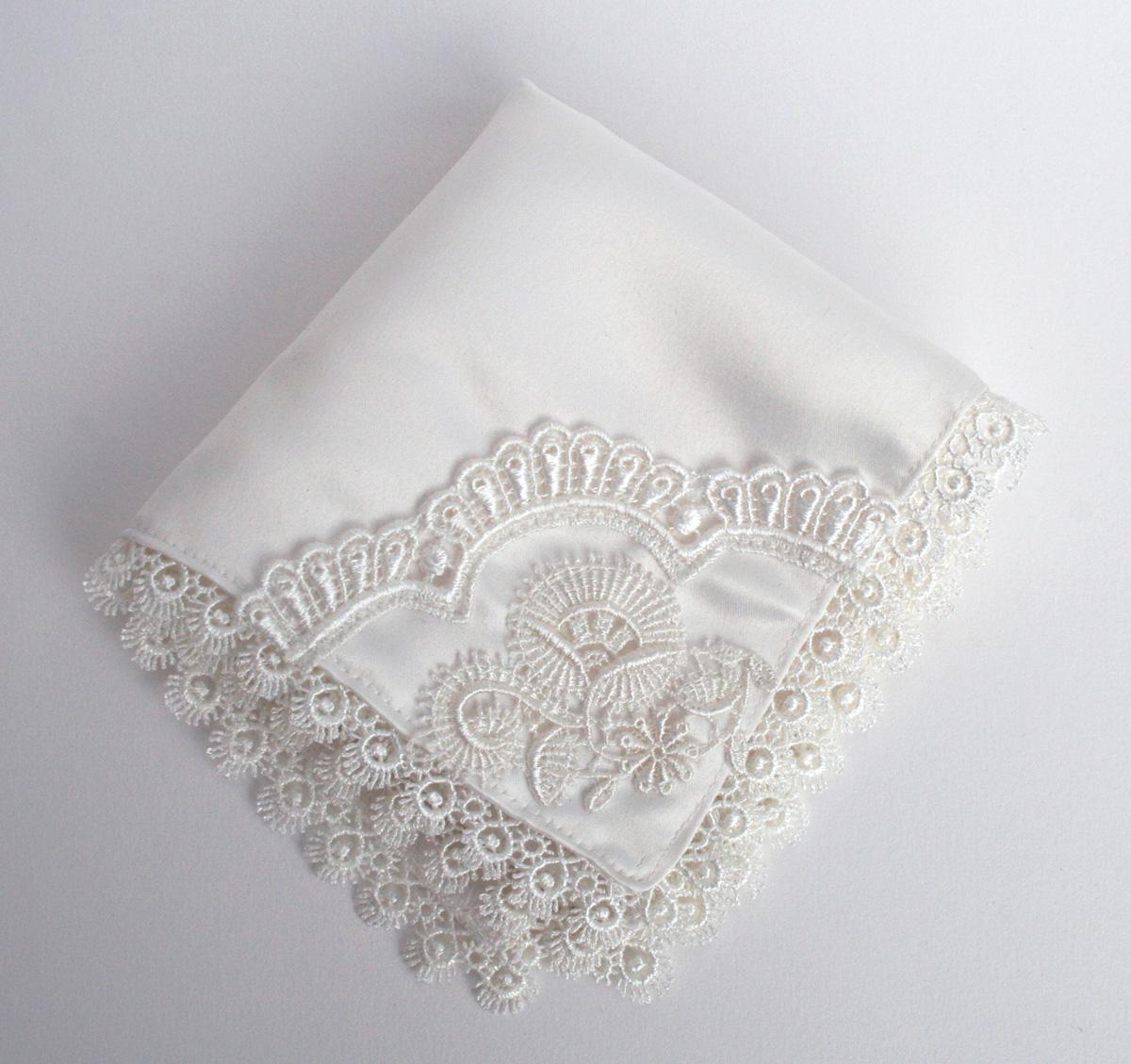 zakdoekje voor de bruid met something old