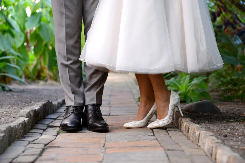 handbeschilderde trouwschoenen